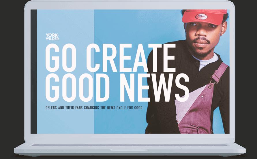 Go Create Good News Pitch Deck Design