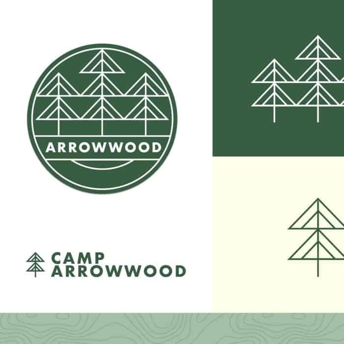 lake arrowwood logo design and branding
