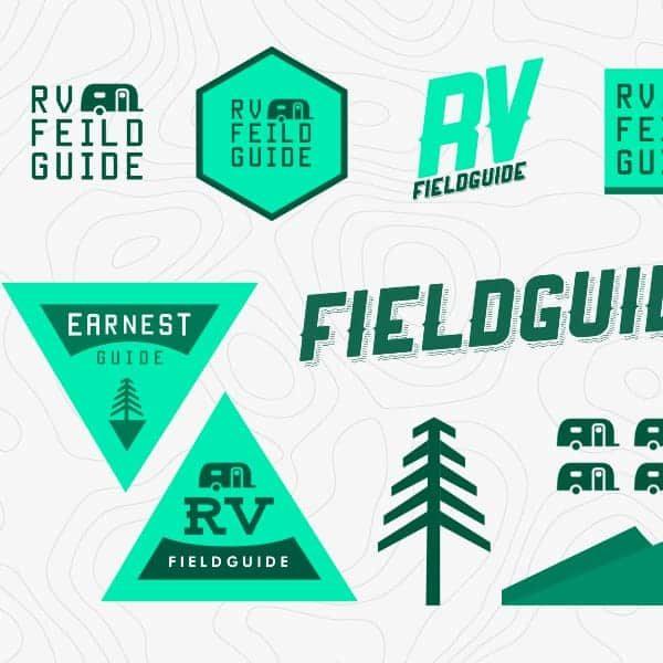 RV Field Guide logo design and branding