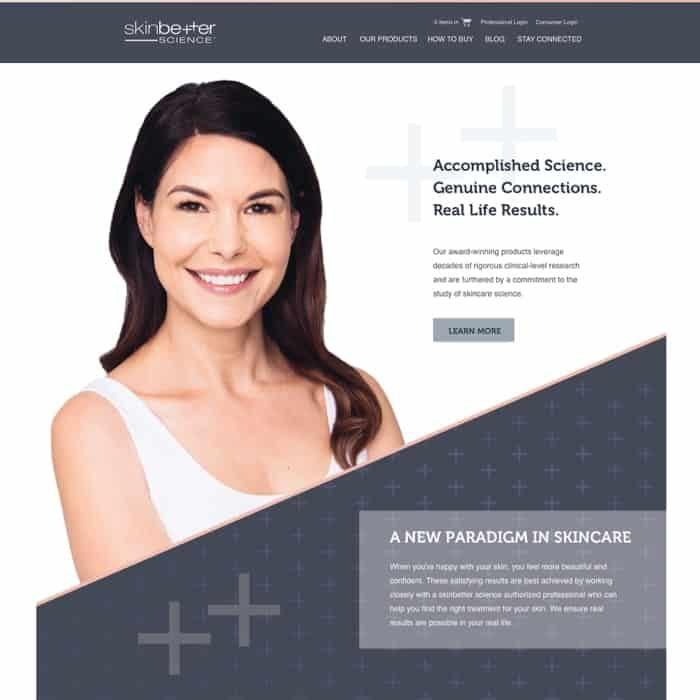 Skinbetter website design